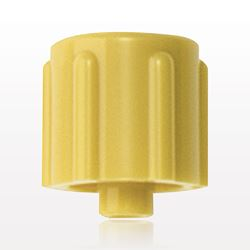 Vented Male Luer Cap, Yellow - 65307