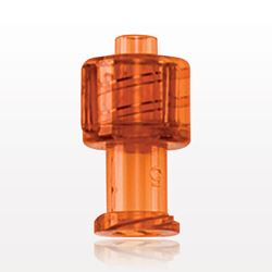 Vented Universal Luer Lock Cap, Transparent Orange - 65314