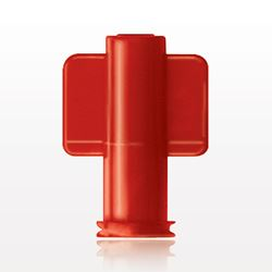 Non-Vented Female Luer Lock Cap, Red - 65315