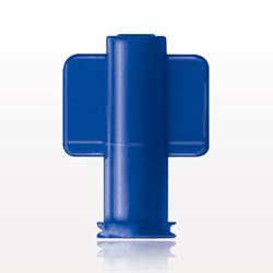 Non-Vented Female Luer Lock Cap, Blue - 65318
