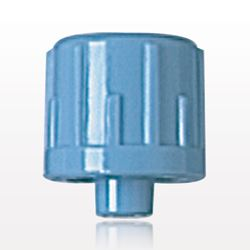 Vented Male Luer Cap, Blue - 65412