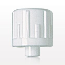 Vented Male Luer Cap, White - 65414
