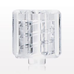 Non-Vented Male Luer Lock Cap, Clear - 65418