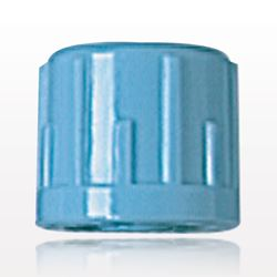Non-Vented Male Luer Lock Cap, Recessed Stem, Light Blue - 65505