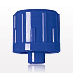 Non-Vented Male Luer Lock Cap, Blue - 65510