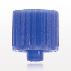 Non-Vented Male Luer Cap, Blue - 65799