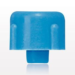 Non-Vented, Threaded Male Cap Plug, Blue - 65816