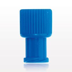 Non-Vented Double Ended Cap, Male/Female, Blue - 65834