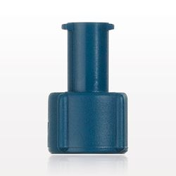 Tuohy Borst Adapter Cap, Blue, Female Luer Lock - 80421