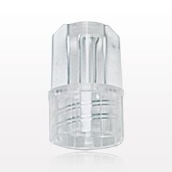 Large-Bore Male Cap, Non-Vented, Clear - 98754