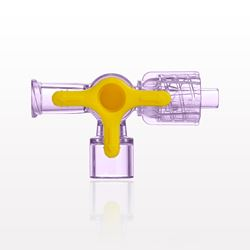 4-Way Stopcock, Female Luer Lock, Male Luer with Spin Lock, Tubing Port - 99515