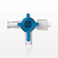 2-Way Stopcock, 2 Female Luer Locks, Swivel Male Luer Lock, 90 Degree Turn Handle - 99752