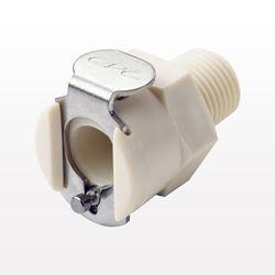 PMC12 Series Coupling Body, Straight Thru Polypropylene In-Line Pipe Thread - PMC100212