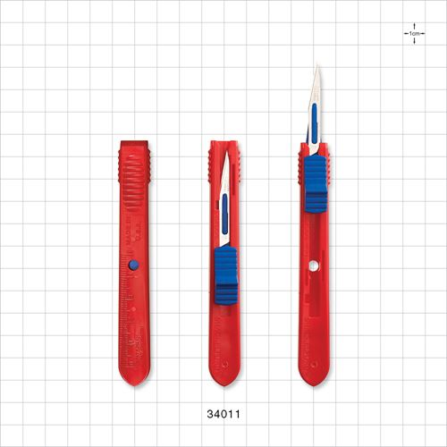 Safety Scalpel, Blue Thumb Slider, #11 - 34011
