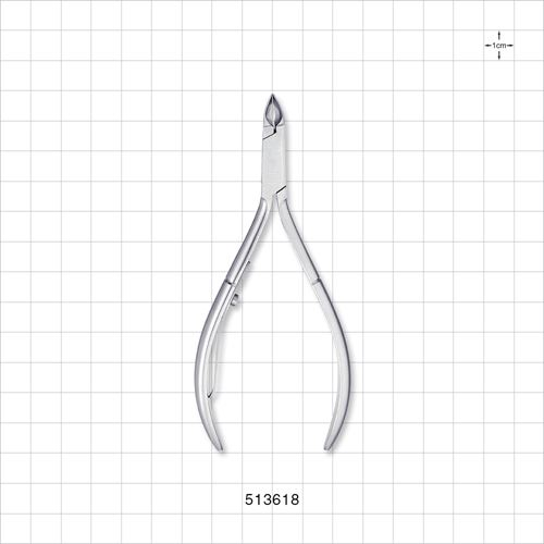 Cuticle Nipper with Long Handle, Brushed Silver - 513618
