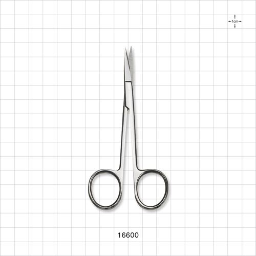 Single-Use Straight Iris Scissors, Mirror Finish - 16600