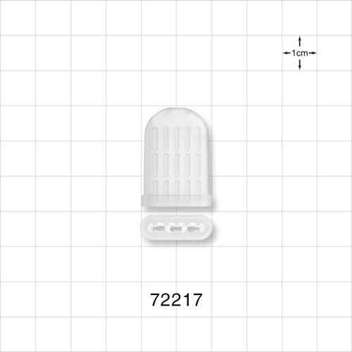 Instrument Guard, Flat Oval, Vented, Natural - 72217