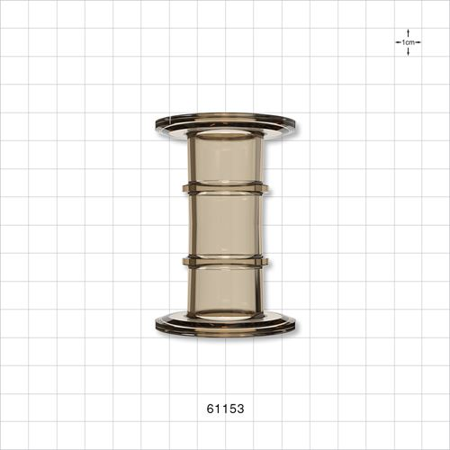 Double Sanitary Flange, Amber - 61153