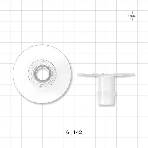 Flange with Dimples, Barbed, Natural - 61142