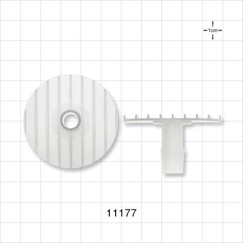 Flange with Ribbed Base, Natural - 11177