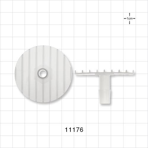 Flange with Ribbed Base, Natural - 11176