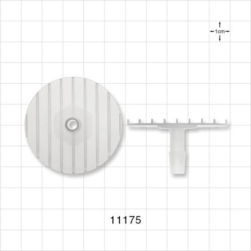 Flange with Ribbed Base, Natural - 11175