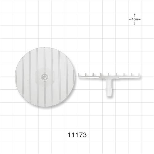 Flange with Ribbed Base, Natural - 11173