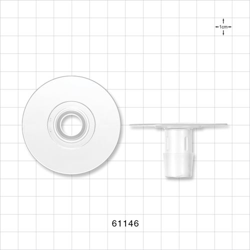 Flange with Flat Plate, Barbed, Natural - 61146