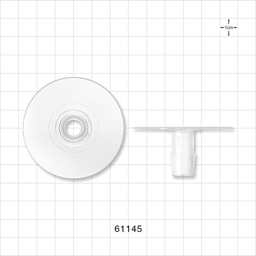 Flange with Flat Plate, Barbed, Natural - 61145