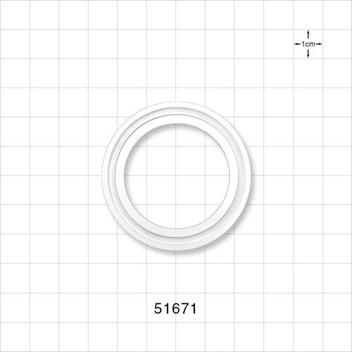Gasket, Fits Maxi Standard Sanitary Flange - 51671