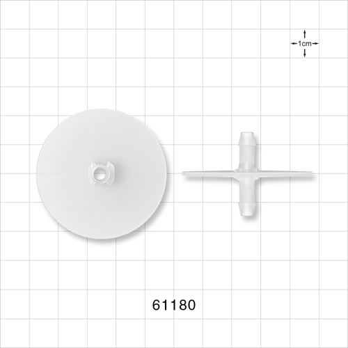 Flange with Opposable Barbs, Natural - 61180