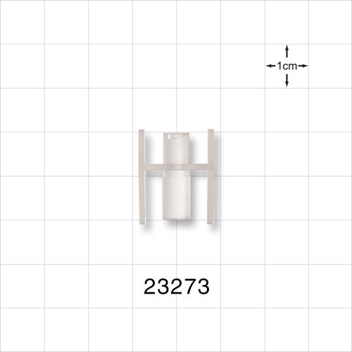 Female Luer Lock to Oral Slip Connector, Natural - 23273