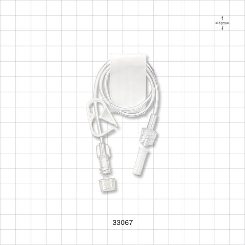Extension Line, Female Luer Lock to Male Luer Lock with Vented Caps and Pinch Clamp - 33067