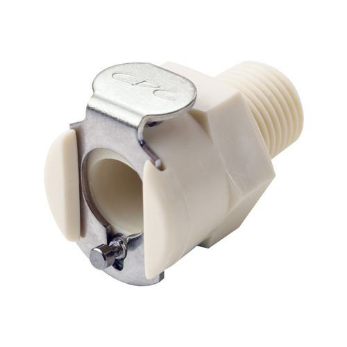 PMC12 Series Coupling Body, Shutoff Polypropylene In-Line Pipe Thread - PMCD100412