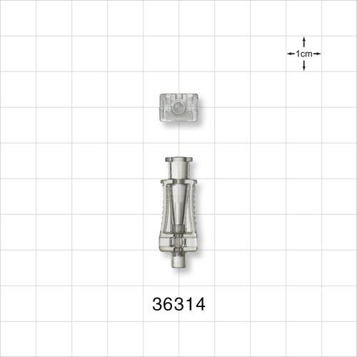 Needle Hub, Rectangular with Female Luer Lock - 36314