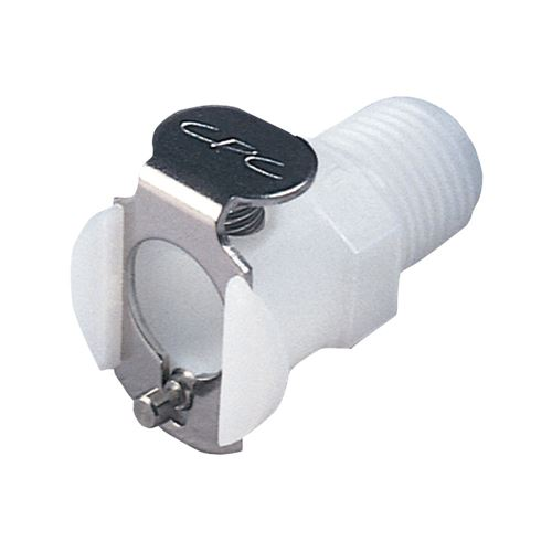 PMC Series Coupling Body, Straight Thru Acetal In-Line Pipe Thread - PMC1004