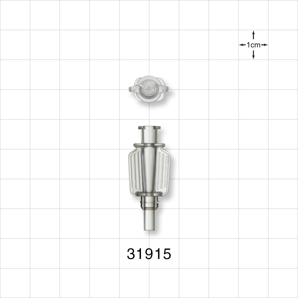 Needle Hub With Wings Female Luer Lock To Male Luer Slip