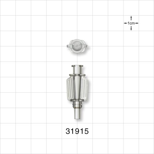 Needle Hub with Wings, Female Luer Lock to Male Luer Slip - 31915