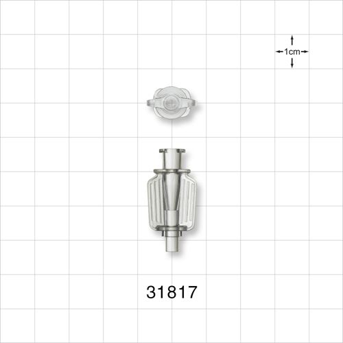 Needle Hub with Wings and Female Luer Lock; Universal - 31817