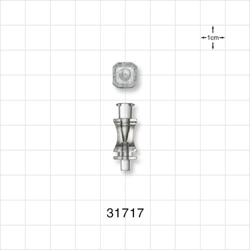 Needle Hub, Anatomic Octagonal with Female Luer Lock, Universal - 31717