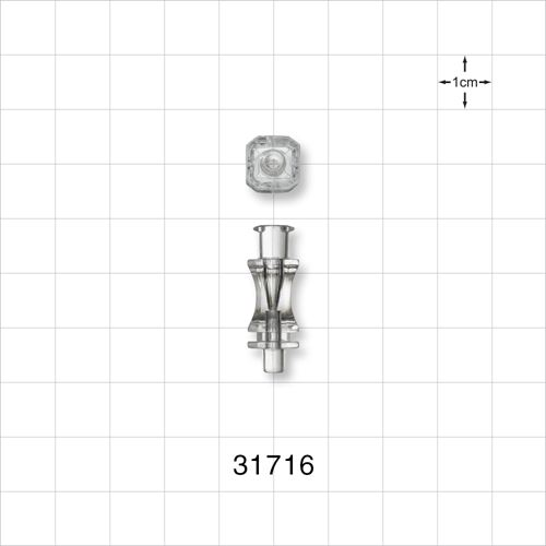 Needle Hub, Anatomic Octagonal with Female Luer Lock - 31716
