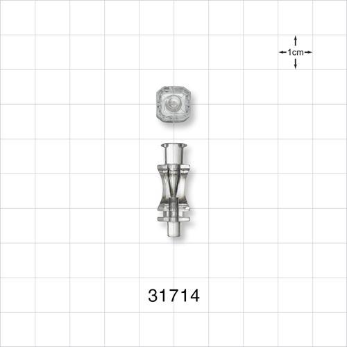 Needle Hub, Anatomic Octagonal with Female Luer Lock - 31714