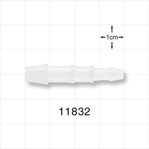 Straight Reducer Connector, Barbed, Natural - 11832