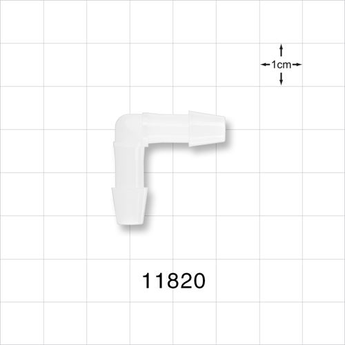 Elbow Connector, Barbed, Natural - 11820
