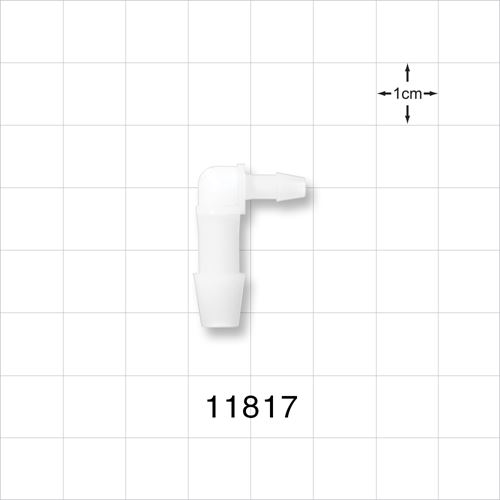 Elbow Connector, Barbed, Natural - 11817
