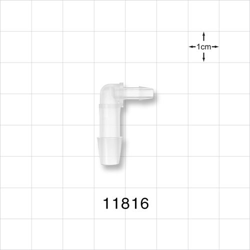 Elbow Connector, Barbed, Natural - 11816