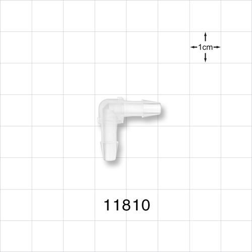 Elbow Connector, Barbed, Natural - 11810