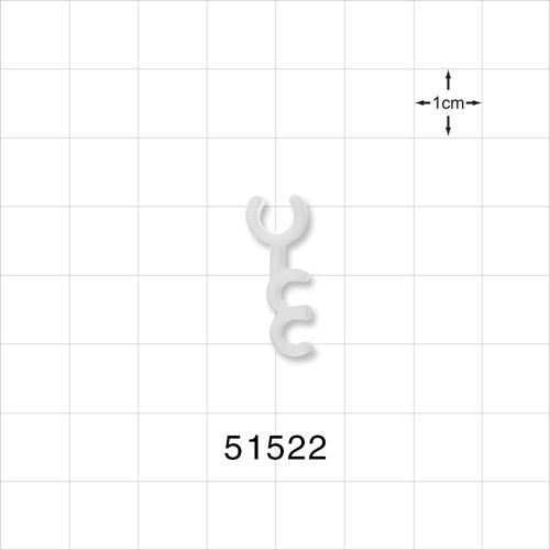 3 Channel Multi-Cavity Clip, Natural - 51522