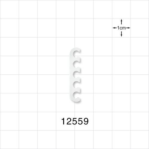 5-Channel Multi-Cavity Clip, Natural - 12559