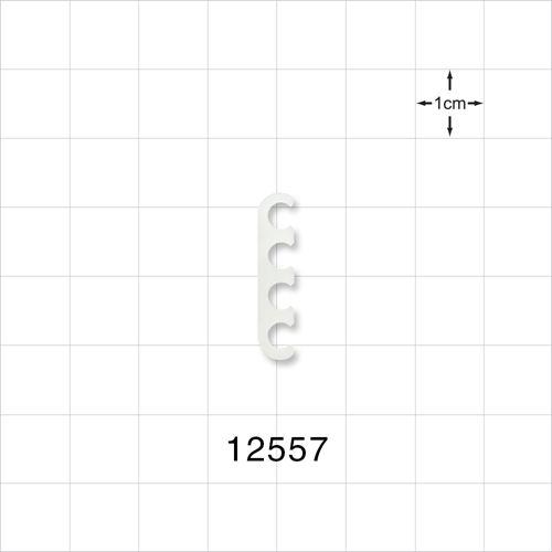 4-Channel Multi-Cavity Clip, Natural - 12557